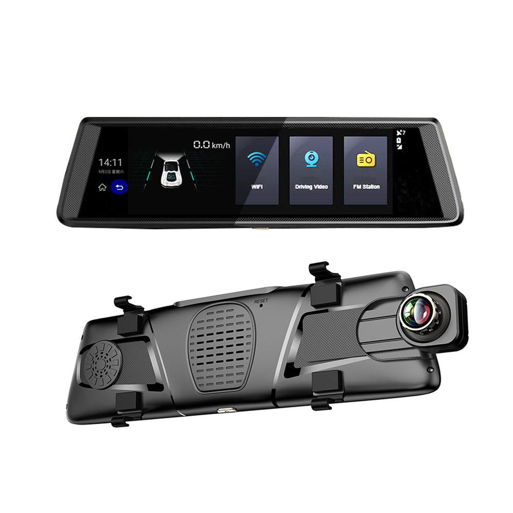 行车记录仪 新款 10寸全屏智能后视镜高清安卓导航行车记录